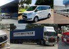 Các loại phương tiện vận chuyển của Tập Đoàn Logitem từ năm 1994 đến ngày nay